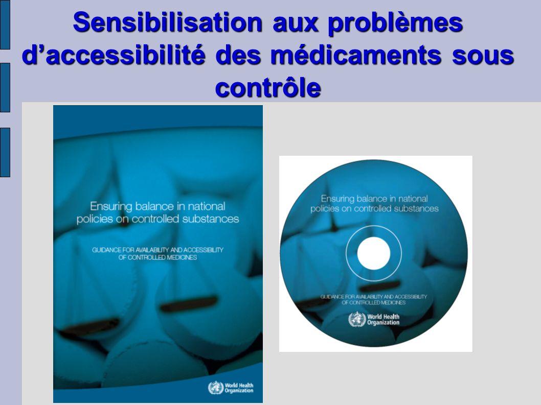 Sensibilisation aux problèmes d'accessibilité des médicaments sous contrôle
