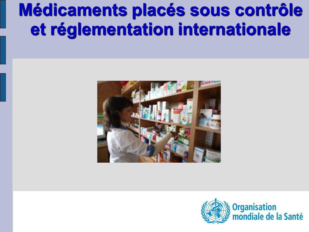 Médicaments placés sous contrôle et réglementation internationale