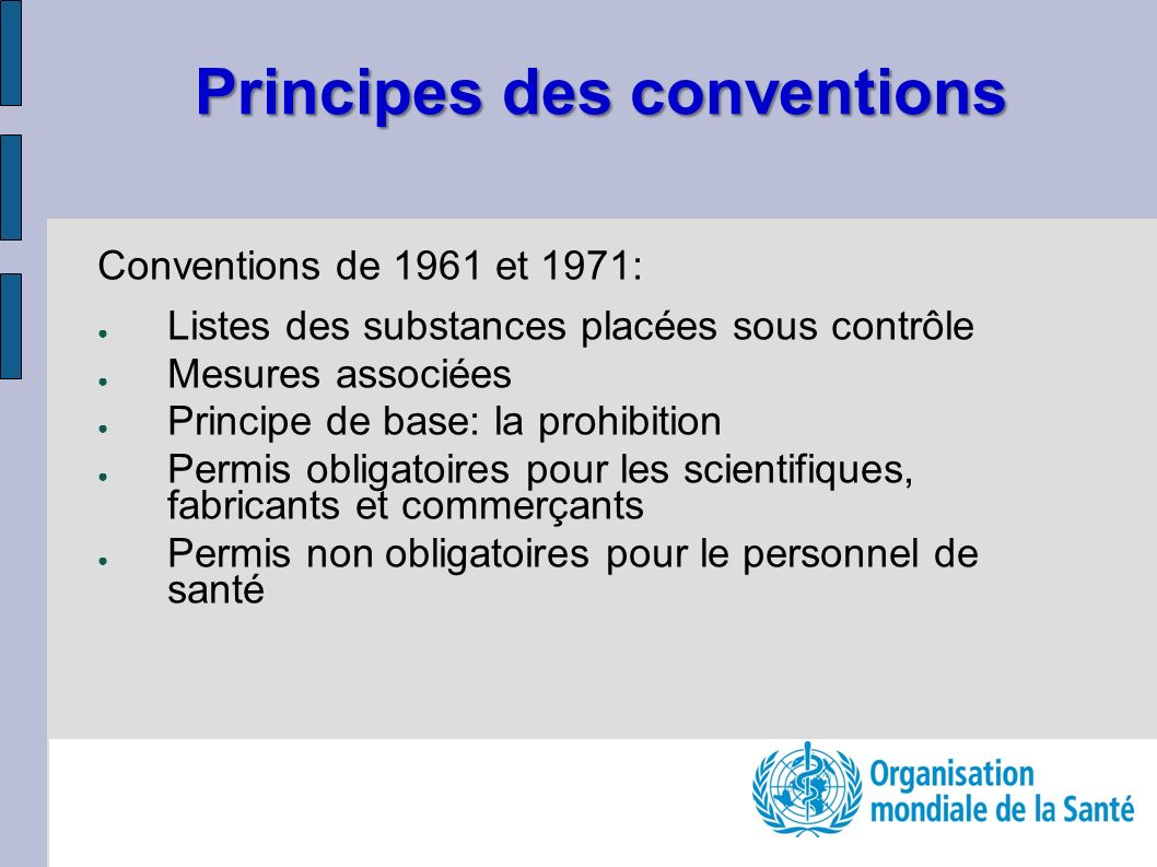 Principes des conventions