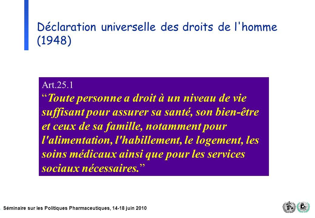 Déclaration universelle des droits de l homme (1948)