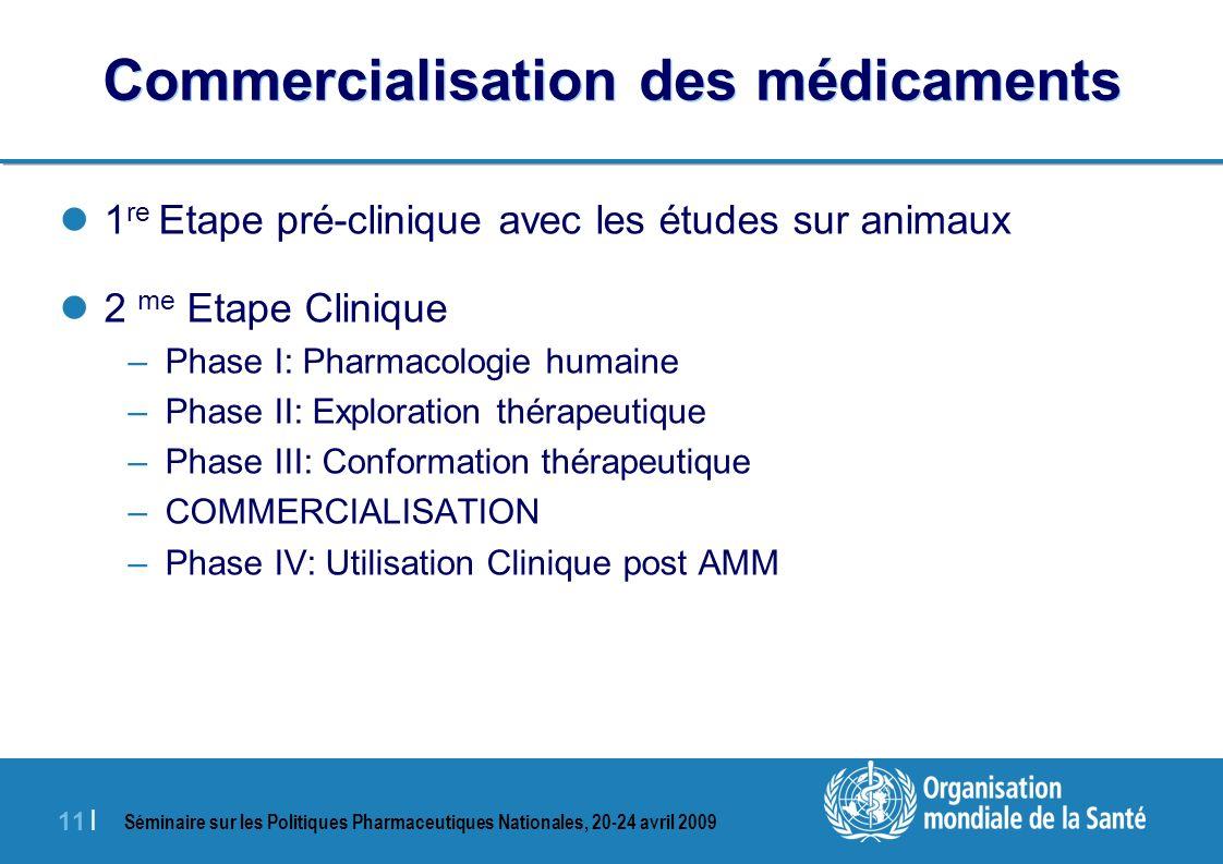 Commercialisation des médicaments