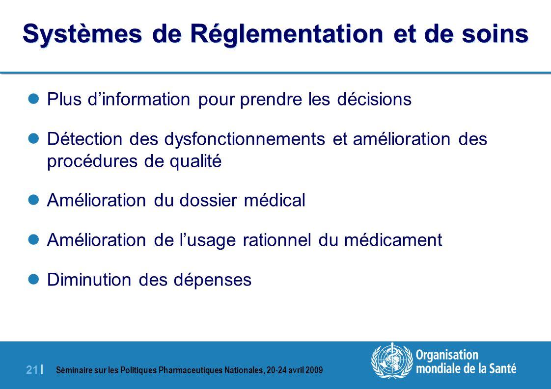Systèmes de Réglementation et de soins