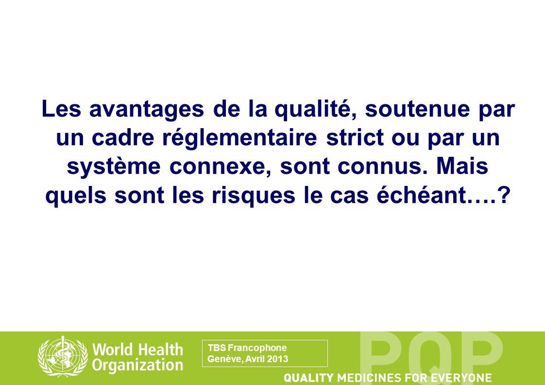 Les avantages de la qualité, soutenue par un cadre réglementaire strict ou par un système connexe, sont connus. Mais quels sont les risques le cas échéant….
