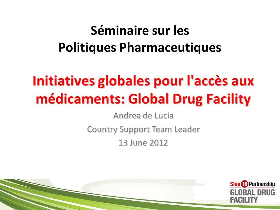 Séminaire sur les Politiques Pharmaceutiques