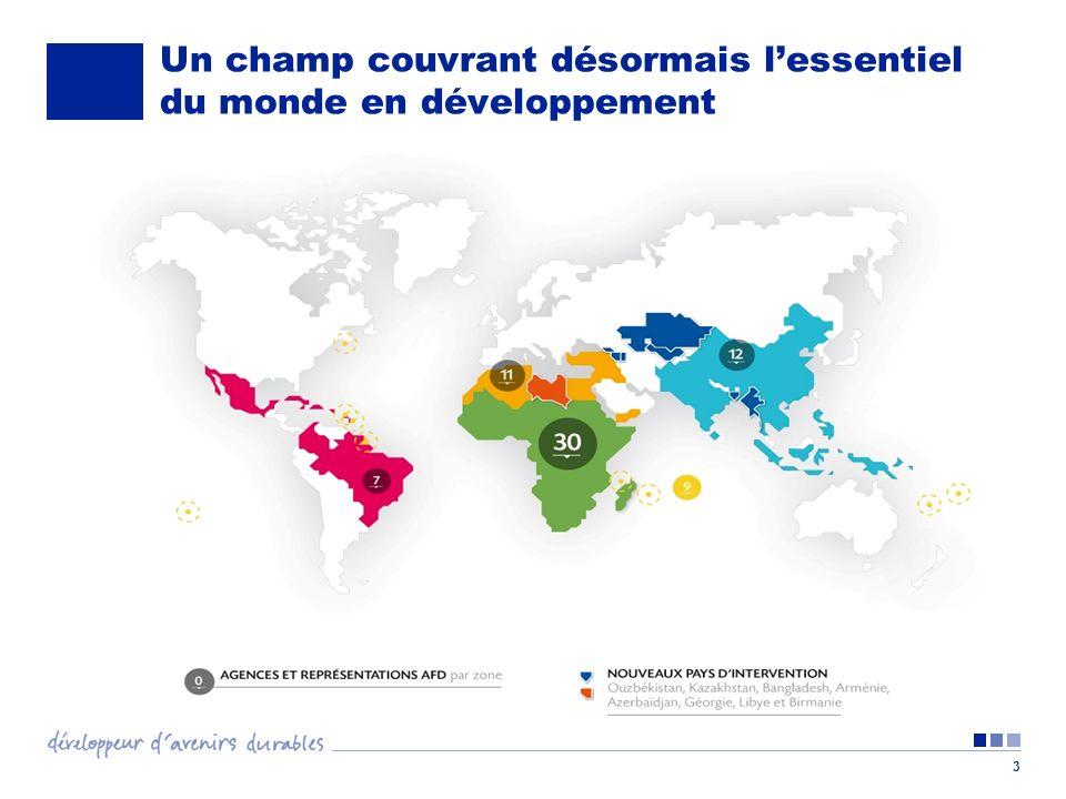 Un champ couvrant désormais l'essentiel du monde en développement