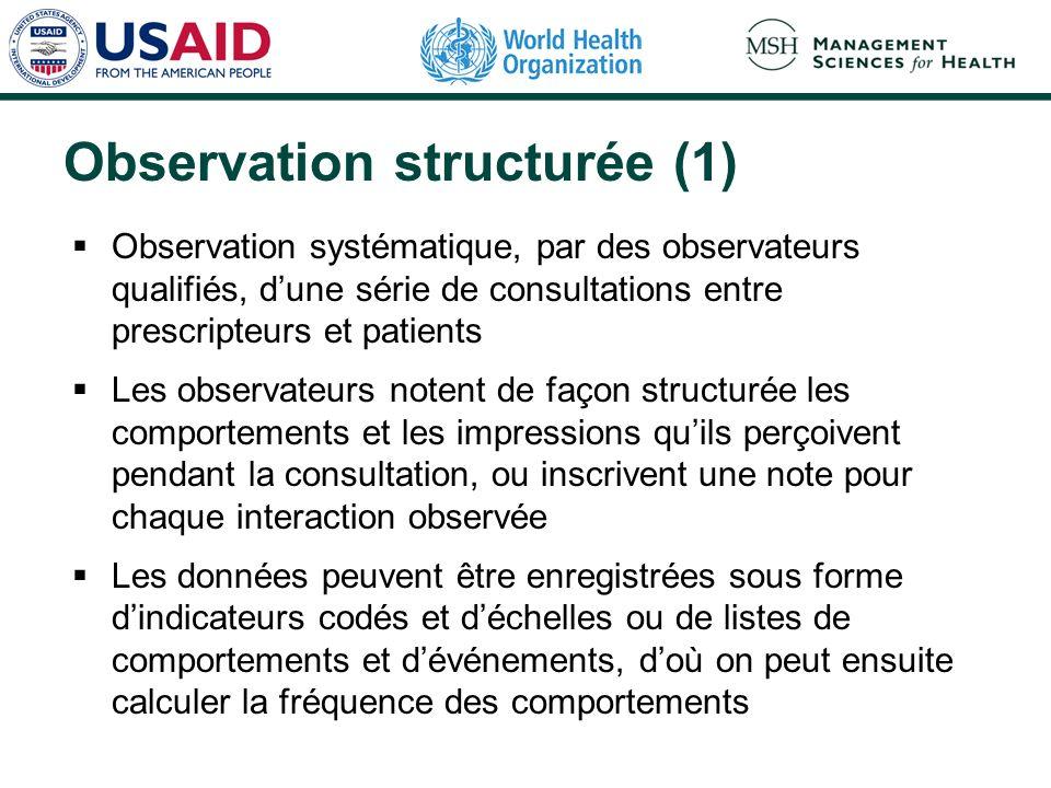 Observation structurée (1)