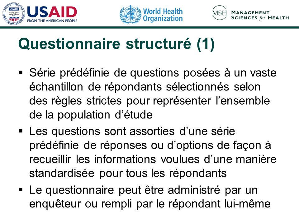 Questionnaire structuré (1)
