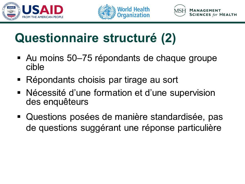 Questionnaire structuré (2)