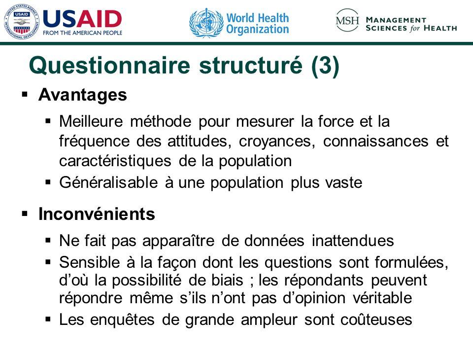 Questionnaire structuré (3)