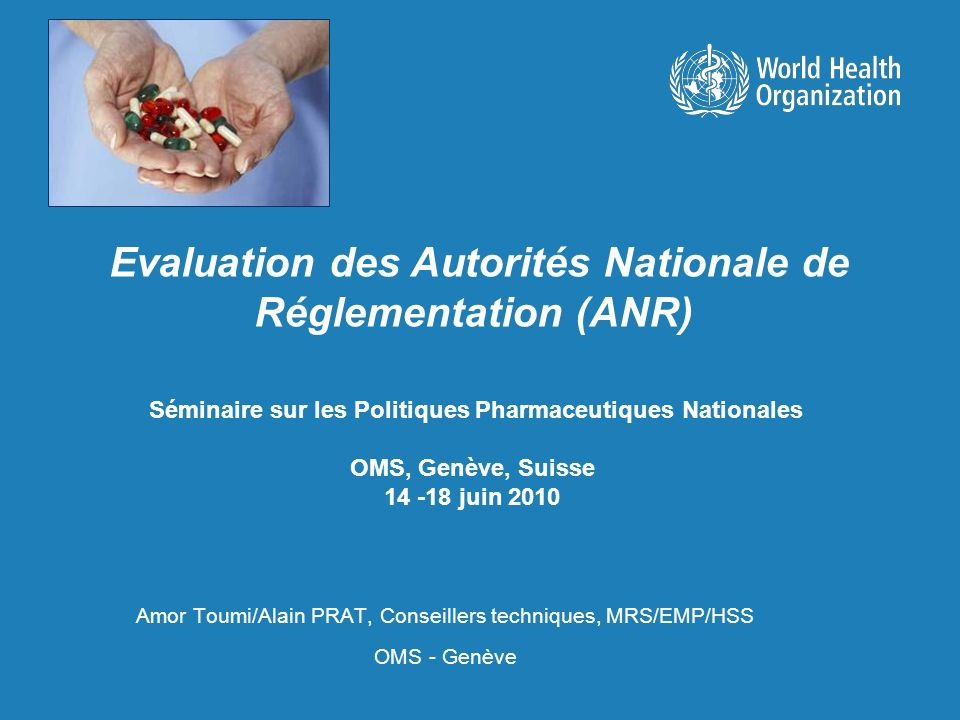 Evaluation des Autorités Nationale de Réglementation (ANR)