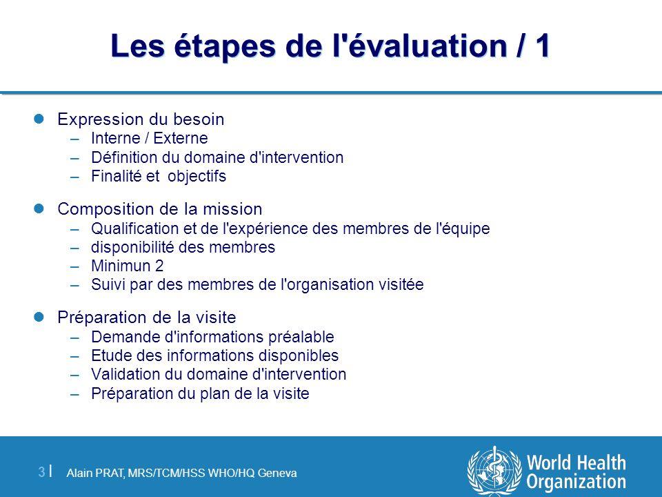 Les étapes de l évaluation / 1