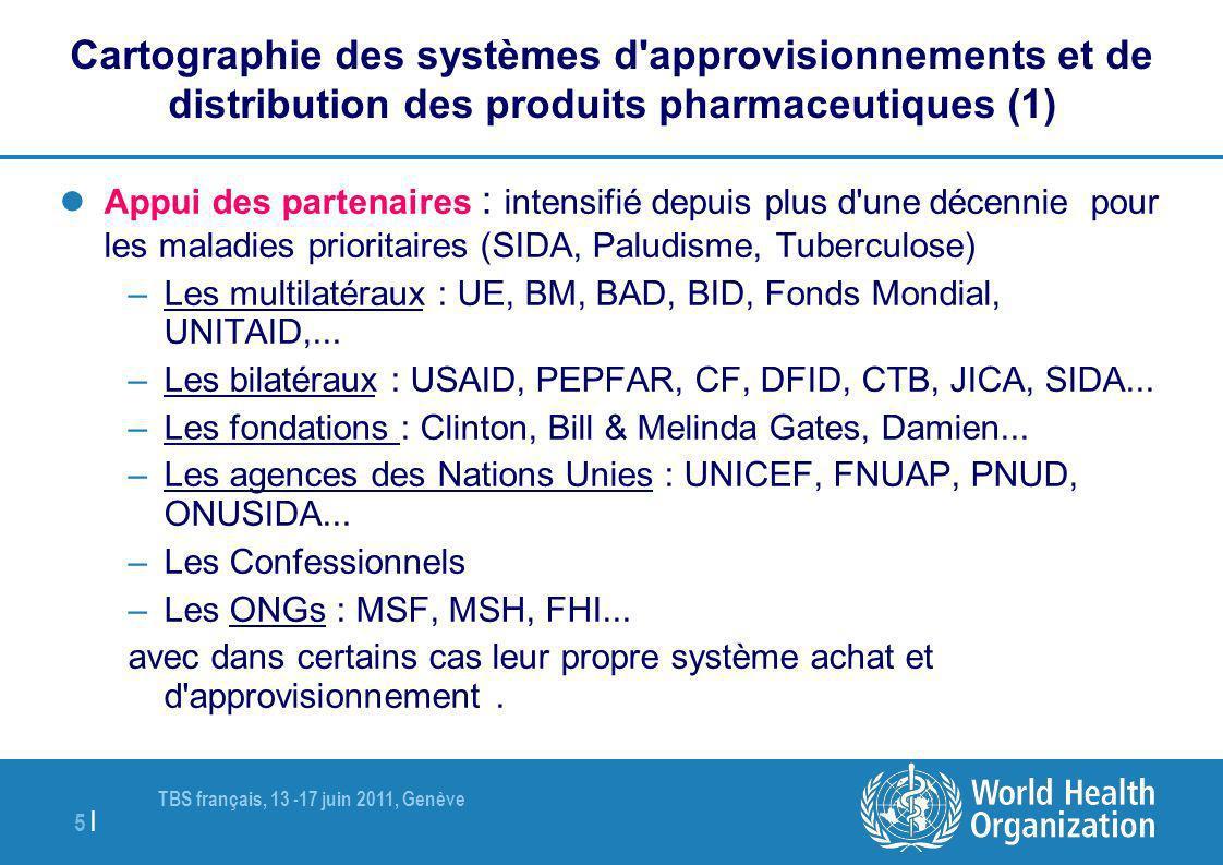 Cartographie des systèmes d approvisionnements et de distribution des produits pharmaceutiques (1)