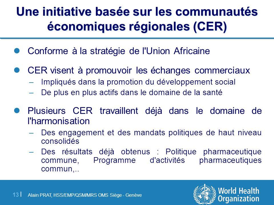 Une initiative basée sur les communautés économiques régionales (CER)
