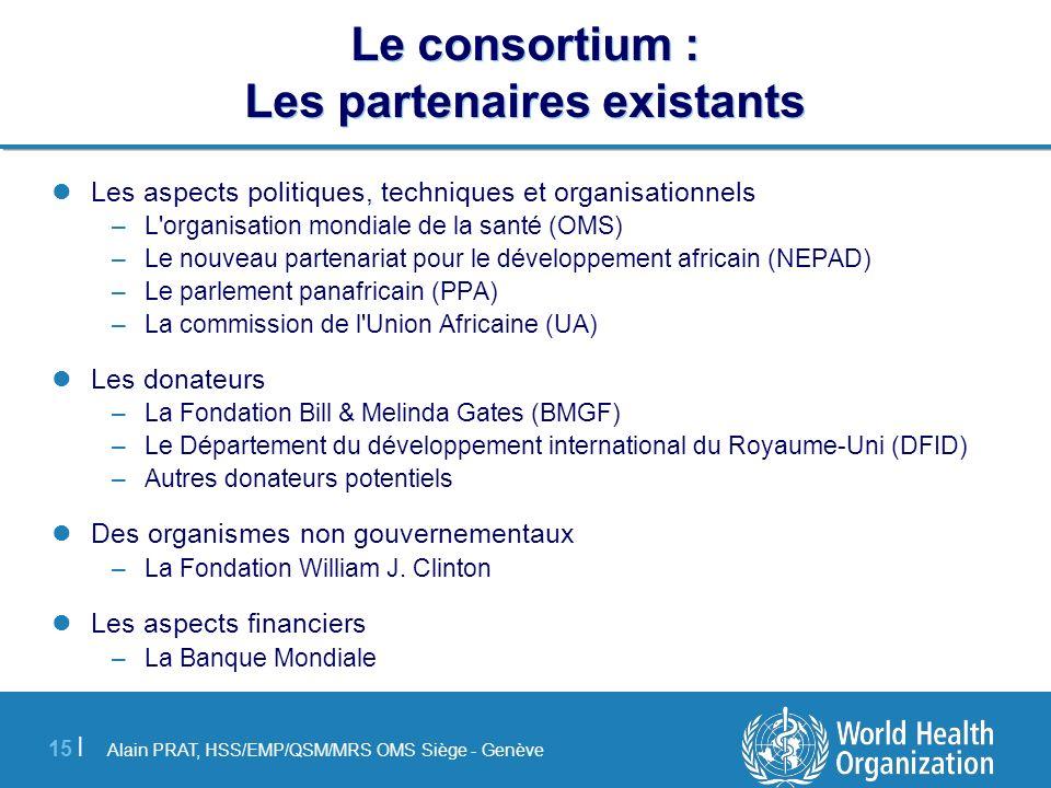 Le consortium : Les partenaires existants