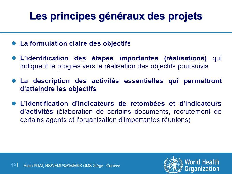 Les principes généraux des projets