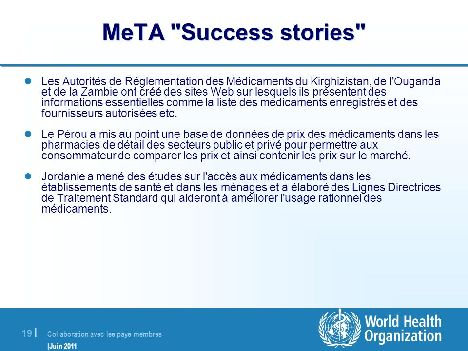 MeTA Success stories