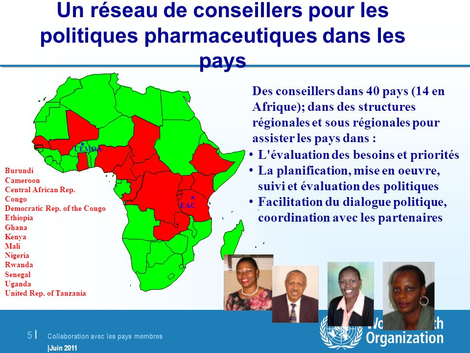 Un réseau de conseillers pour les politiques pharmaceutiques dans les pays