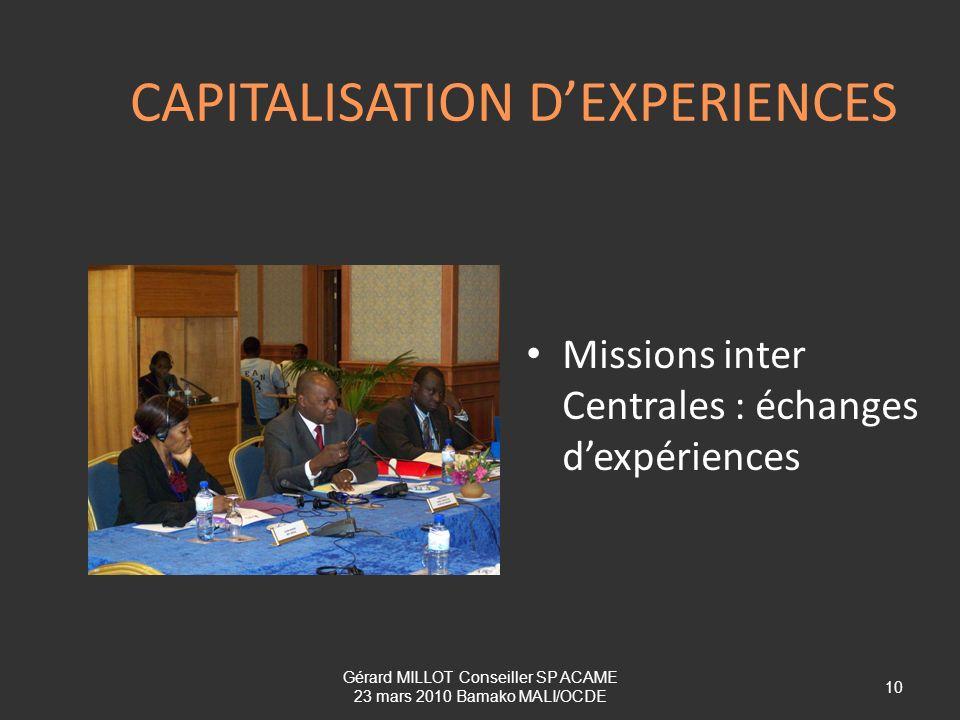 CAPITALISATION D'EXPERIENCES