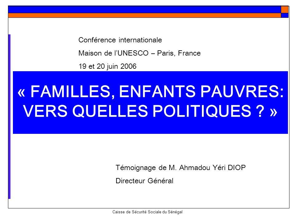« FAMILLES, ENFANTS PAUVRES: VERS QUELLES POLITIQUES »