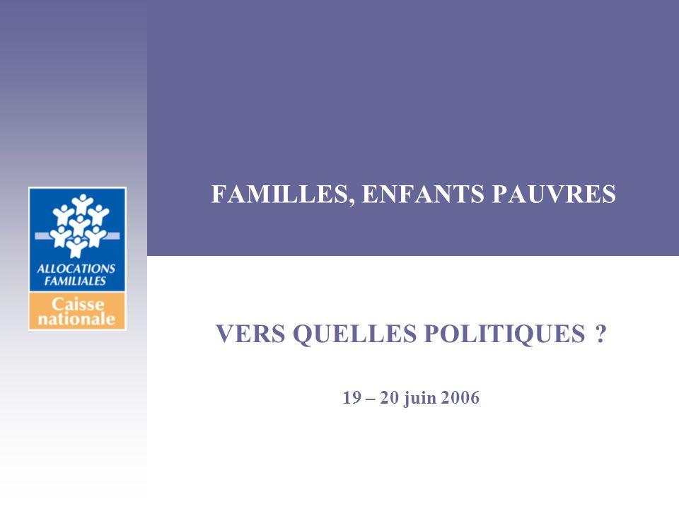FAMILLES, ENFANTS PAUVRES
