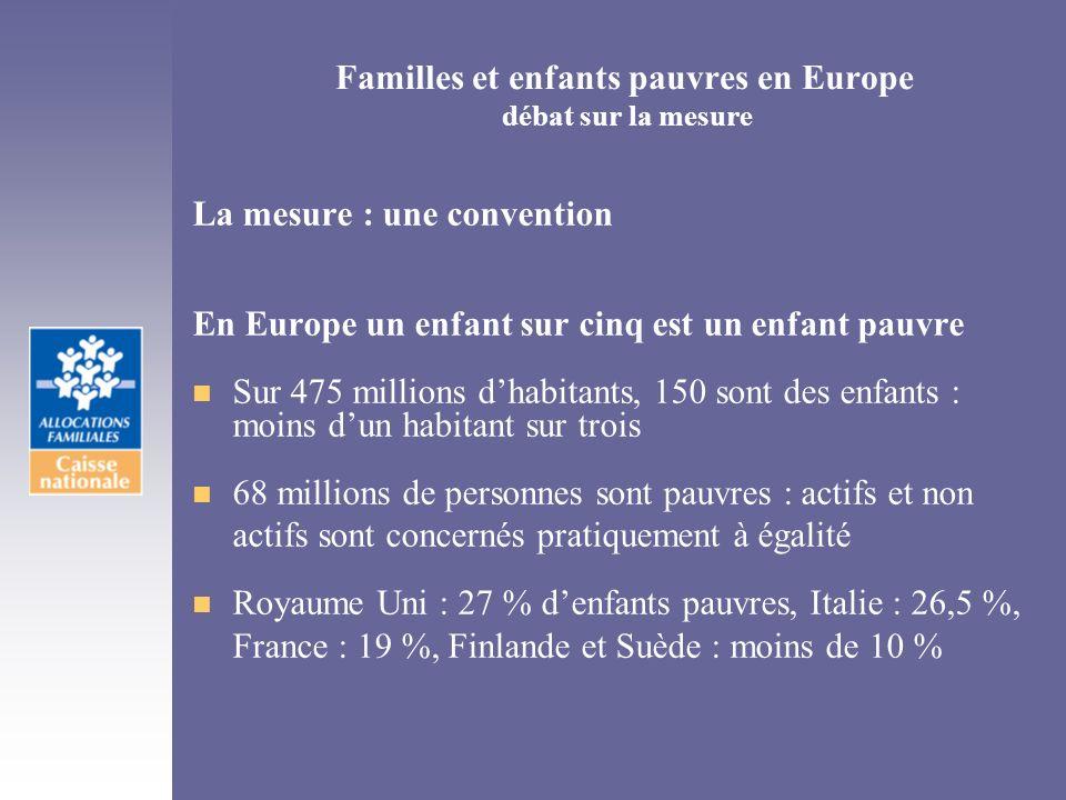 Familles et enfants pauvres en Europe débat sur la mesure