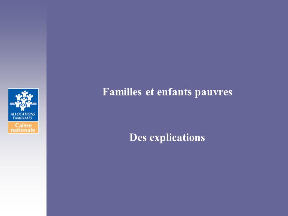 Familles et enfants pauvres