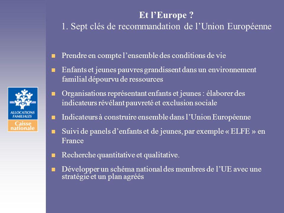 Et l'Europe 1. Sept clés de recommandation de l'Union Européenne