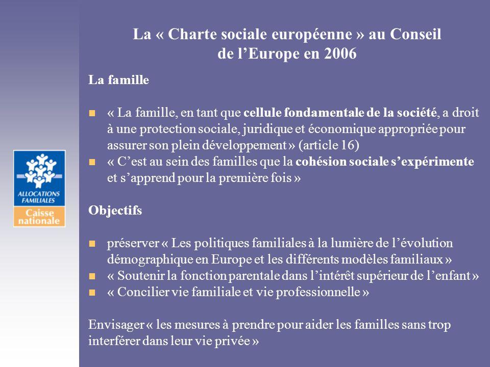 La « Charte sociale européenne » au Conseil de l'Europe en 2006