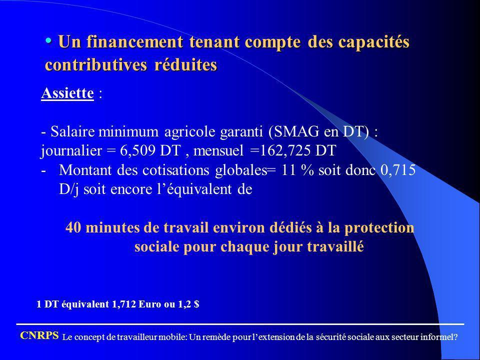 Un financement tenant compte des capacités contributives réduites