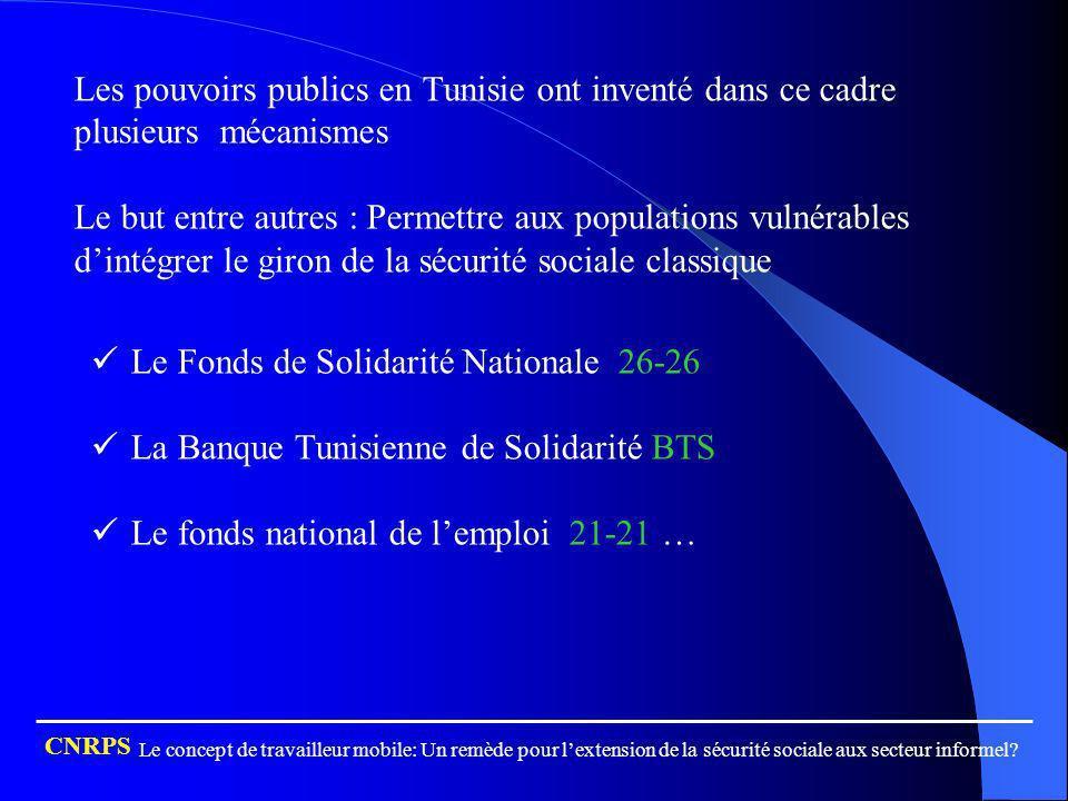 Le Fonds de Solidarité Nationale 26-26