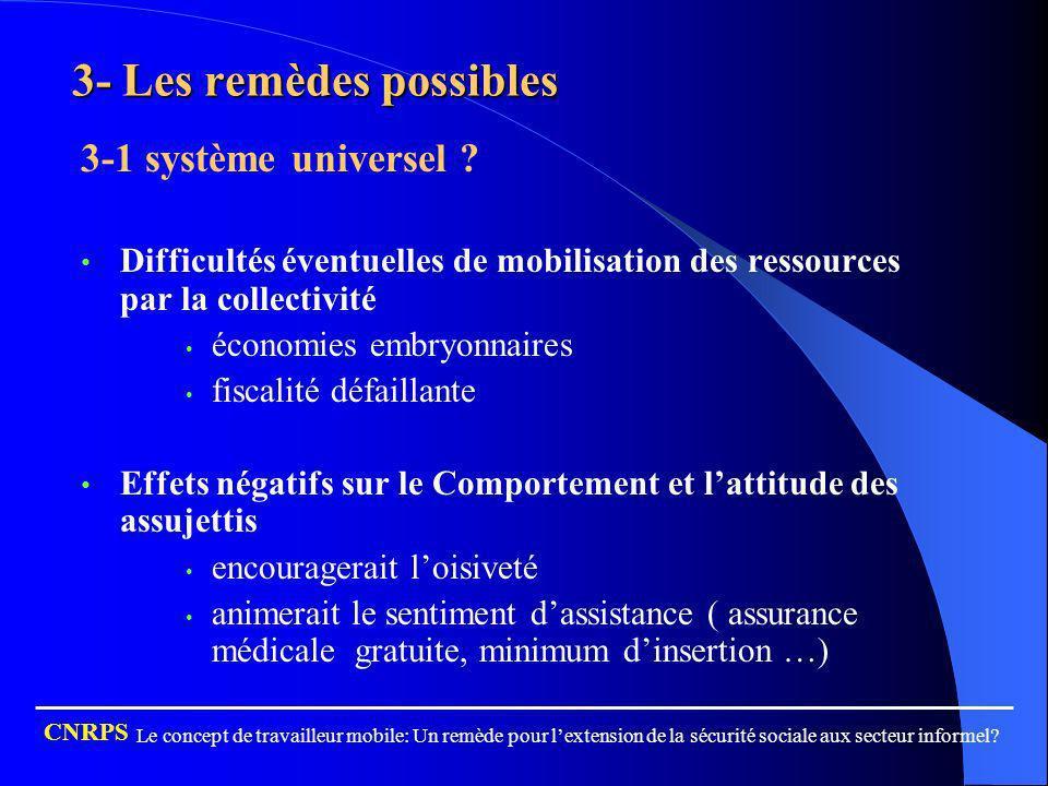 3- Les remèdes possibles