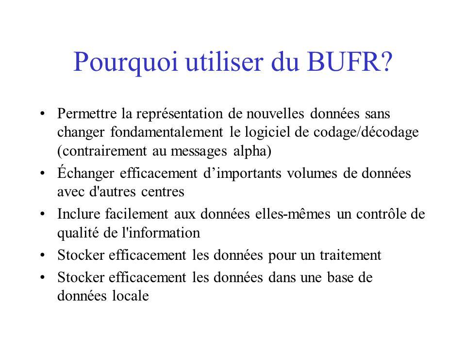 Pourquoi utiliser du BUFR