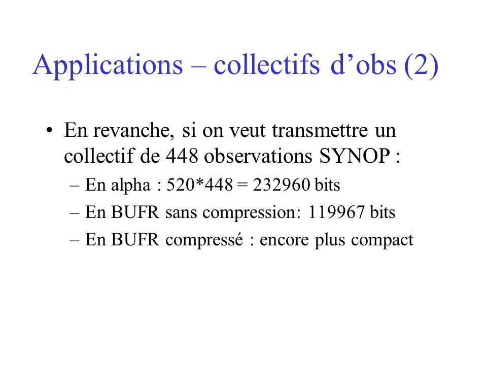 Applications – collectifs d'obs (2)