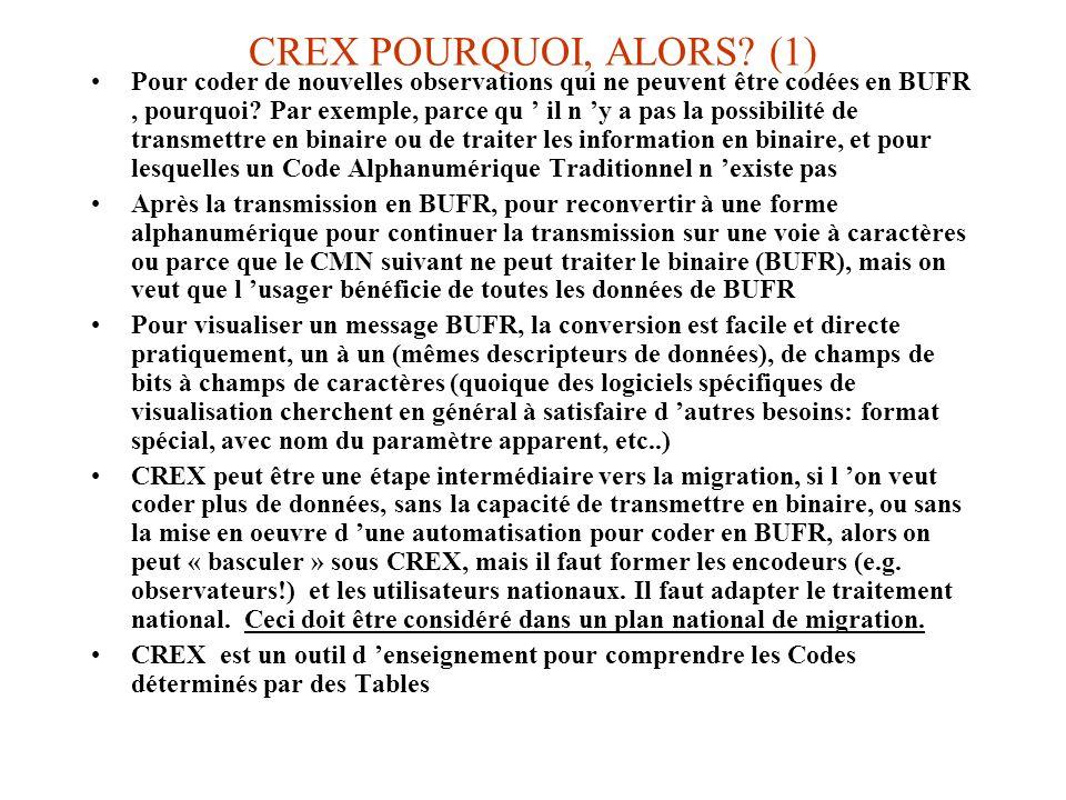 CREX POURQUOI, ALORS (1)