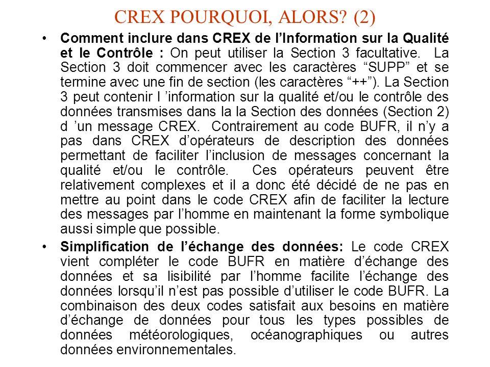 CREX POURQUOI, ALORS (2)