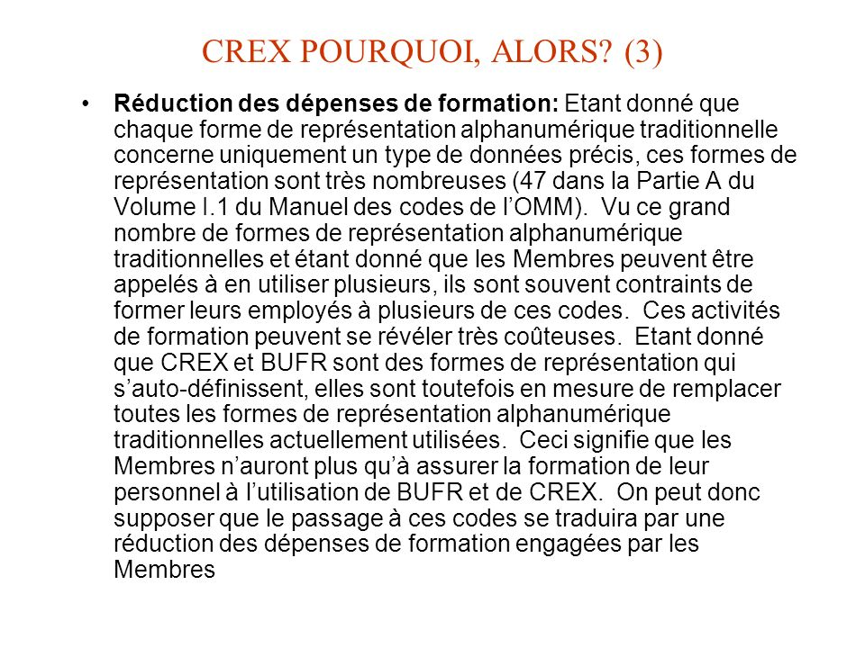 CREX POURQUOI, ALORS (3)
