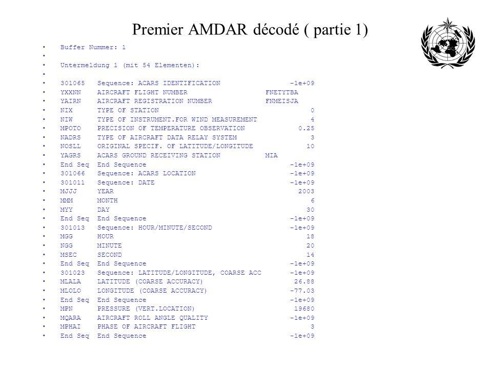 Premier AMDAR décodé ( partie 1)