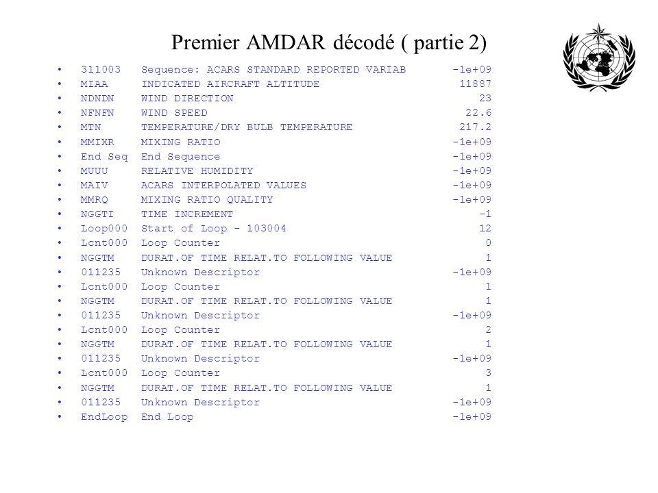 Premier AMDAR décodé ( partie 2)
