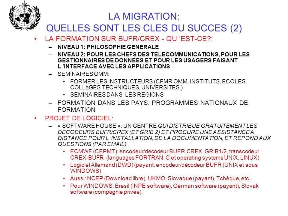 LA MIGRATION: QUELLES SONT LES CLES DU SUCCES (2)