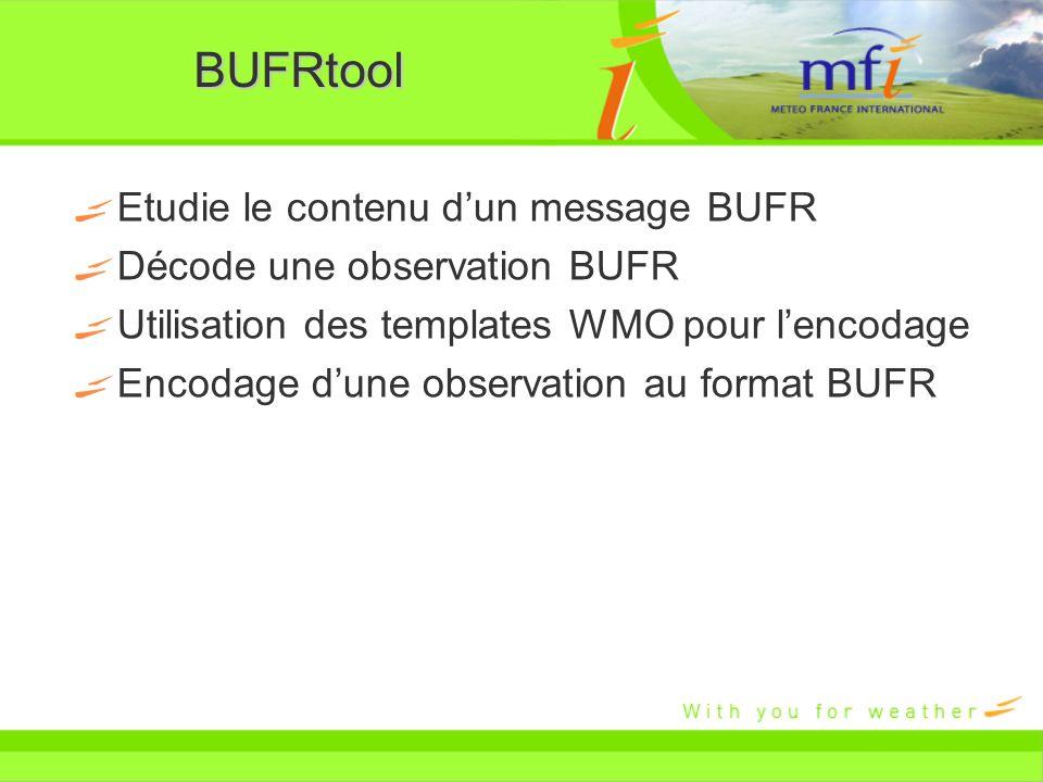 BUFRtool Etudie le contenu d'un message BUFR