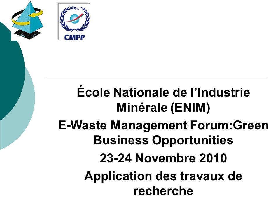 École Nationale de l'Industrie Minérale (ENIM)