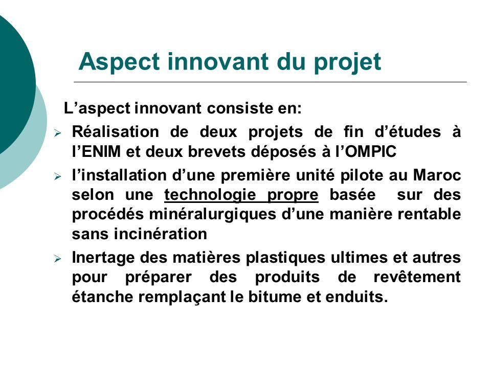 Aspect innovant du projet