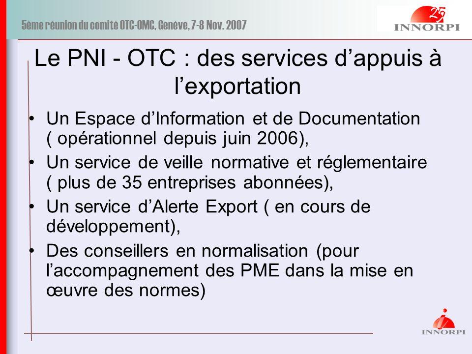 Le PNI - OTC : des services d'appuis à l'exportation