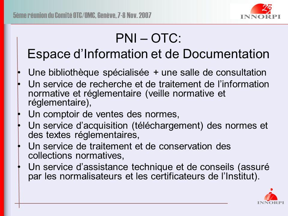 PNI – OTC: Espace d'Information et de Documentation
