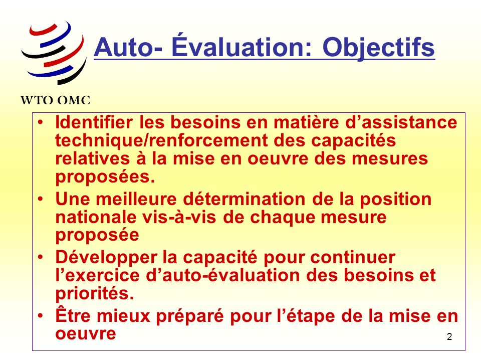 Auto- Évaluation: Objectifs