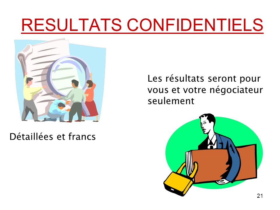 RESULTATS CONFIDENTIELS