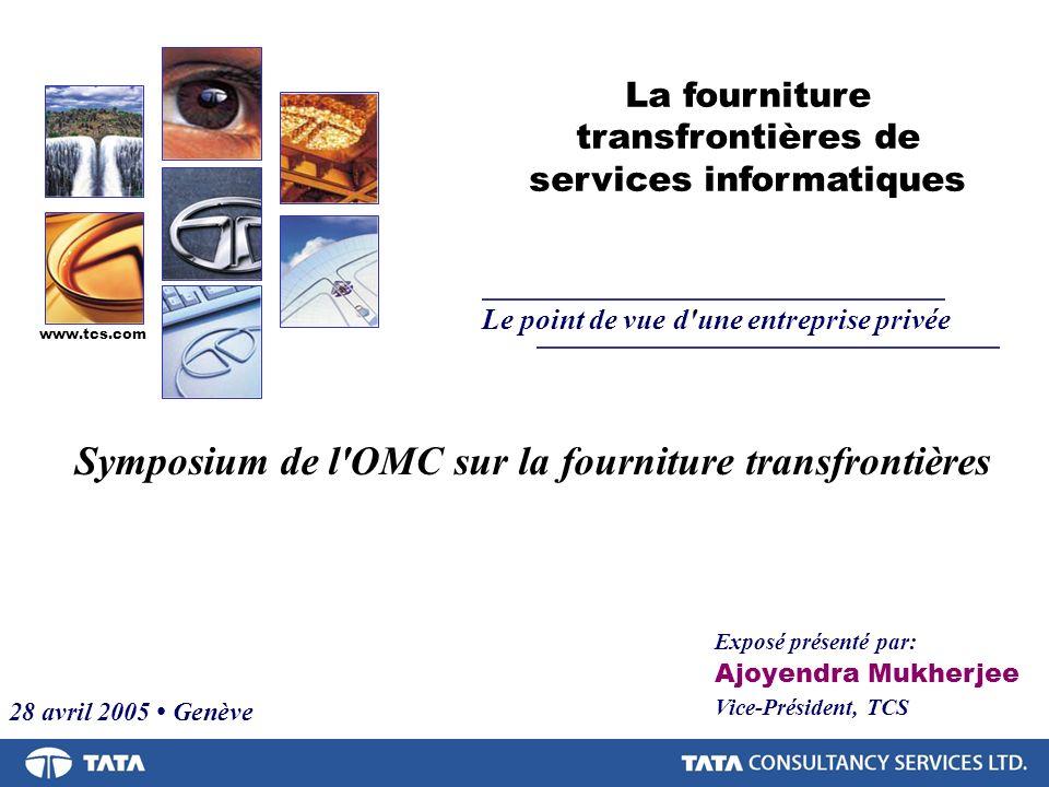 Symposium de l OMC sur la fourniture transfrontières
