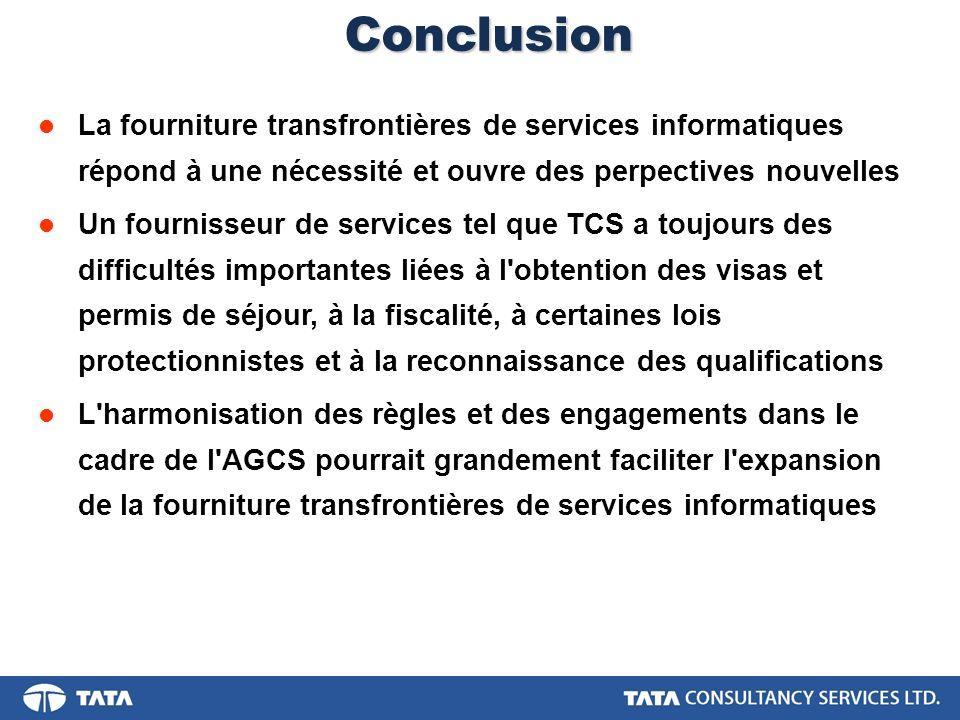 Conclusion La fourniture transfrontières de services informatiques répond à une nécessité et ouvre des perpectives nouvelles.
