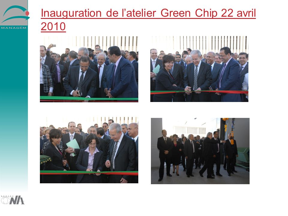 Inauguration de l'atelier Green Chip 22 avril 2010