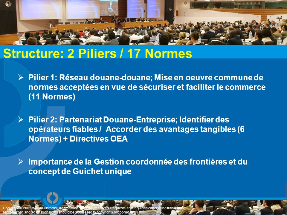 Structure: 2 Piliers / 17 Normes